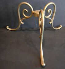 3 LEG Floor or Table Lamp or Coat Rack Base Solid Cast Brass