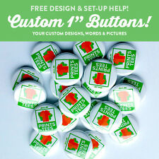 """25 Custom 1"""" inch buttons pinbacks badge pin punk bands indie"""