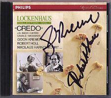 Gidon KREMER Robert HOLL Signiert LOCKENHAUS Credo HARNONCOURT CD Haydn Messiaen