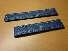100% Genuine Tag Heuer Leather Watch Band 18 MM (Blue)