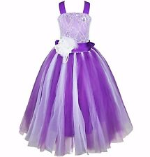 Flower Girls Party Formal Wedding Princess Prom Bridesmaid Christening Dress