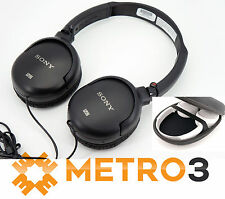 Sony MDR-NC8 Noise Cancelling Headphones W Case & Airline Adapter | Refurbished