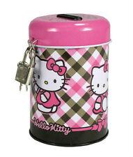 Adorable tirelire SANRIO en métal avec cadenas Hello Kitty  NEUVE !