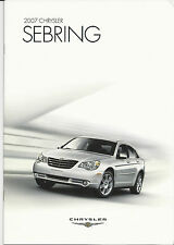 Mint  Condition 2007 CHRYSLER SEBRING and LIMITED and TOURING Brochure '07