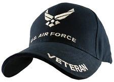 NEW USAF U.S. Air Force Veteran Baseball cap hat. Navy Blue. 5342.