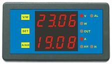 New DC 0-200V 0-750A Blue LED Battery Tester Combo AMP Volt Watt Amp Hour Meter