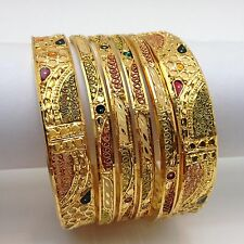 -indian-asian-bridal-party-ethnic-wear-22ct-gold-plated-bangles-size26