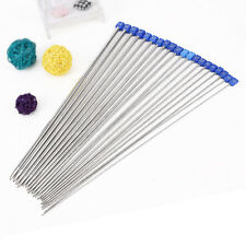 20Pcs Set Smooth Metal Stainless Single Pointed Knitting Needles Knit Craft New