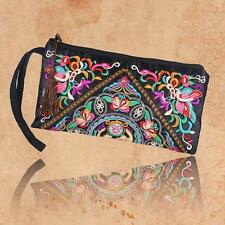 Women Ethnic Handmade Wristlet Clutch Bag Purse Wallet embroided floral Handbag