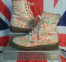 Mint*England Made*Vintage Ditzy Floral Dr Doc Martens*Hippy Meadow Flowers*UK 5