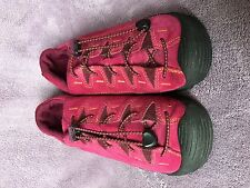 KEEN WOMENS CRANBERRY SUEDE TOGGLE LACES WALKING SHOES SIZE EU 39 US 7.5-8