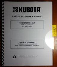 Kubota L9150 L9160 Power Steering Unit L235DT L275DT Tractor Op & Parts Manual