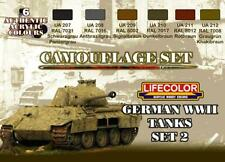 LifeColor German WWII Tanks Set 2 (22ml x 6)