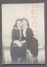 Vintage Photo Pretty Girls in Arms Photobooth Lesbian Interest 688970