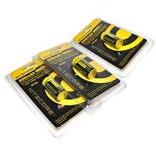 Genuine NITECORE RCR123A  NL166 Rechargeable Batteries 3 Pack Li-ion Protected