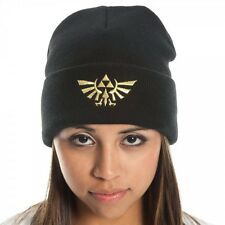 The Legend Of Zelda Black Triforce Logo Beanie Winter Hat - Officially Licensed