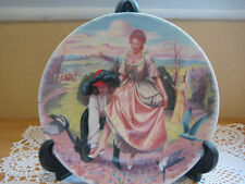 1983 Disney Cinderella Limoges Turgot Cendrillon Plate By Andre Quellier