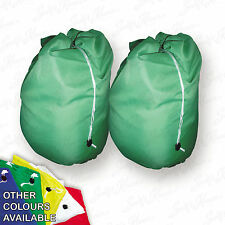 2 Green Jumbo Storage Bag Laundry Bags sack Reusable Large Strong Draw string