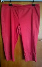 Virtu by Taking Shape red capri pants Size 22
