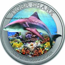 2016 Australia Shark Series Tiger Shark #3 of 3, 1/2 Ounce Pure .999 Silver Coin