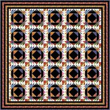 """TAINTED LOVE - Black and White - 101"""" - Quilt-Addicts Precut Patchwork Quilt Kit"""
