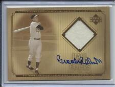 2001 UPPER DECK HALL OF FAMERS BROOKS ROBINSON JERSEY & AUTO ORIOLES