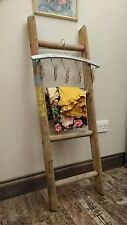 Vintage Wooden Ladder Display Shop Towel Rail bookshelf Industrial wall nautical