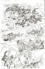 G.I. Joe #10 pg 12 ORIGINAL Pencil Art Team vs B.A.T.S. Steve Kurth IDW OA