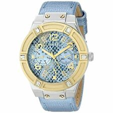 Guess U0289L2 Womens Blue Dial Analog Quartz Watch with Leather Strap w0289l2