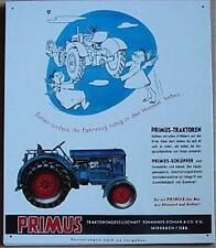 Älteres Blechschild  Traktor Schlepper Primus  gebraucht used