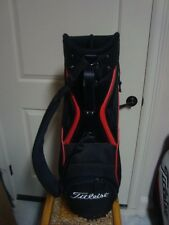 MINT CONDITION TITLEIST MINI STAFF CART BAG 6 WAY PADDED TOP AND PADDED STRAP