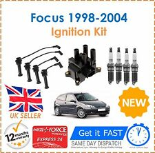 For Ford Focus 1.6 1998-2004 Ignition Spark Plugs Coil Pack HT Leads Set NEW