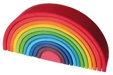 Grimm's Eco-Friendly Waldorf 12 peice Large Rainbow - Wooden, Organic, Best Toy