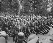 "German SS Troops parade through Warsaw, Poland Invade 8""x 10"" WWII Photo 307"
