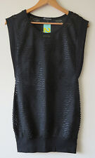 FOREVER 21 Sexy textured lacy ribbed ripped netting bodycon dress - Sz 6-8