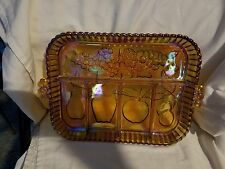 Vintage Indiana Carnival Glass Fruit Relish Tray