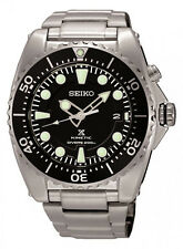 Seiko SKA371 Prospex Kinetic Stainless Steels Black Dial Men's Divers Watch