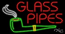 """NEW """"GLASS PIPES"""" 32x17 w/LOGO SOLID/ANIMATED LED SIGN w/CUSTOM OPTIONS 21719"""