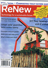 Renew Technology for a sustainable future, Iss 104,greywater, DIY  floor heating