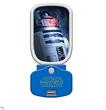 Star Wars R2D2 Glow Night Light & USB Charger - R2-D2 Nightlight with USB Port