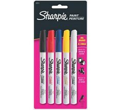 Sharpie Oil Based Paint Markers Set of 5 Fine Point 37371 ~ KNOCKOUT CRAFTS