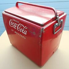 1950 S  OLD  CAVALIER  COCA-COLA  COOLER  ICE  CHEST  W/TRAY,  BOTTLE  OPENER