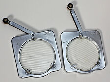 TWO (2) VINTAGE SYLVANIA SUN GUN GLASS LIGHT LENS FILTERS