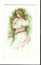Old Trade Card CA Dorney Furniture Co Allentown PA Beautiful Woman