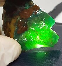 35grs GEM SILICA CHRYSOCOLLA ROUGH CHALCEDONY EMERALD JADE COLOR LILY MINE S727