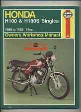 NEW Honda H100 H100S (1980-1992) Haynes Work Shop Manual Book MB100 H MB 100 A S