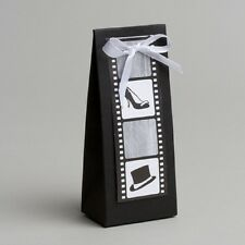 Lot de 10 boites dragées lilou+ruban thème cinéma baptême mariage communion