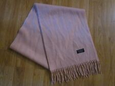 EXCELLENT PASTEL PINK 100% LAMBS WOOL BURBERRY SCARF