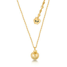 Disney Couture Snow White 14kt Gold-Plated Poison Apple Necklace