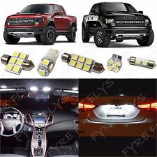 7x White LED lights interior package kit for 2010-2014 Ford Raptor or F-150 FS2W